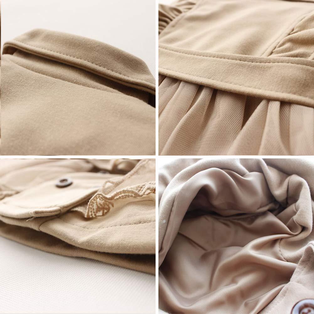 SXSHUN Bambina Trench Coat Dolce Stile Vestito Giacca Elegante da Principessa con Tulle