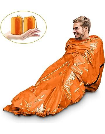 Saco de Emergencia Bivvy Albergue Saco de Dormir Supervivencia Impermeable Manta Hoja de Refugio Aislamiento Térmico