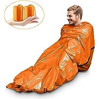 Saco de Emergencia Bivvy Albergue Saco de Dormir Supervivencia Impermeable Manta Hoja de Refugio Aislamiento Térmico…