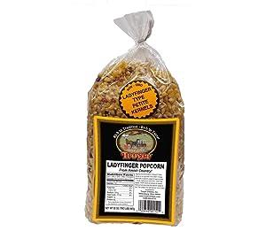 Amish Popcorn Gluten Free, NON GMO, Tender Lady Finger Popcorn - Troyer Farms - 2 lb. Bag