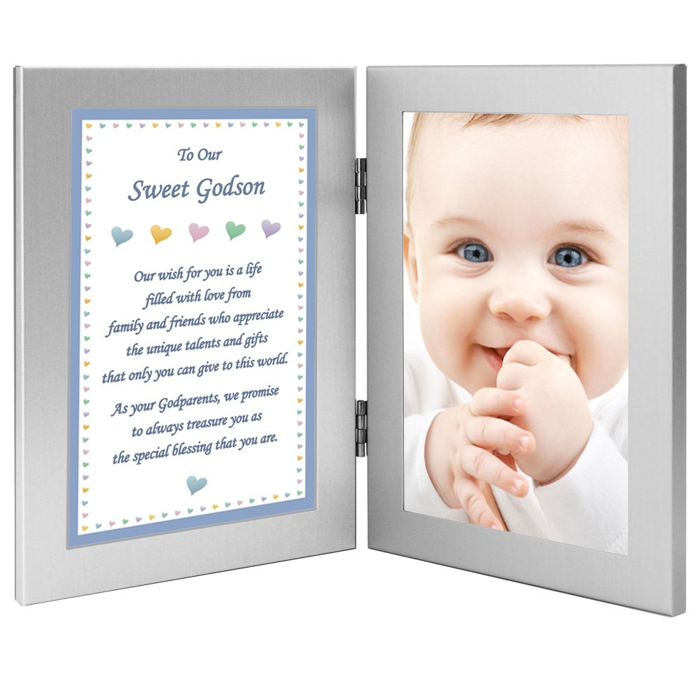 Godson Birthday, Christmas Or Baptism Gift from Godparents, Add Photo