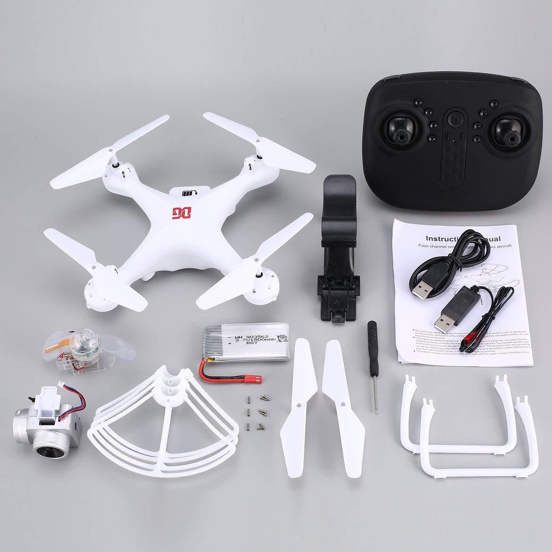 Harlls XG183 2.4G RC Selfie Drone FPV Quadcopter con Fotocamera 720P Real -Time Altitude Hold LED Flash Word Puntelli programmabili - Bianco