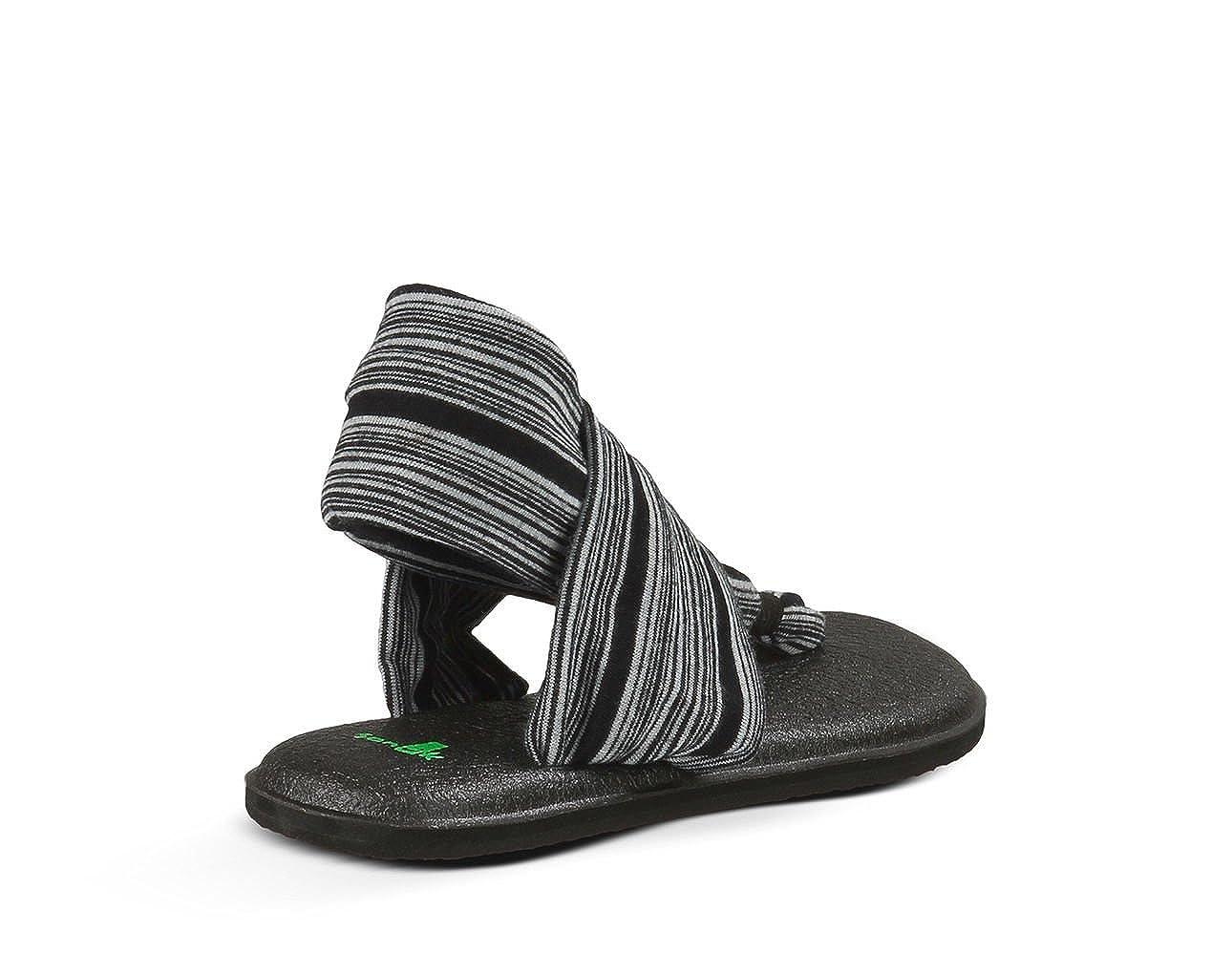 Sanuk Womens Yoga Sling 2 Thong Sandal Blk/Wht 8 M US