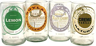 product image for Tumblers Drinking Glasses Made From Recycled Soda Bottles 8 Oz - set of 4 (Clear Mix)