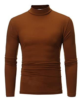 brand new fa2e7 d66cc CHyaog Herren Rollkragen Pulli Shirt Langarmshirt Untershirt Slim Fit  Rollkragenpullover Pullover Einfarbig