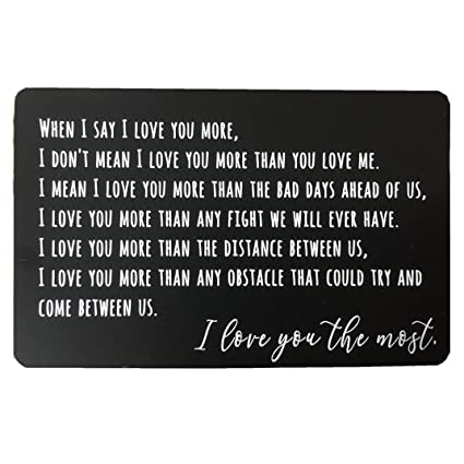 011d055b3e5 Engraved Wallet Insert Card, Personalized Message Card, Metal Wallet Card  Anniversary Gift for Men, Valentines, Wedding Day Gift, Groom's Gift for ...