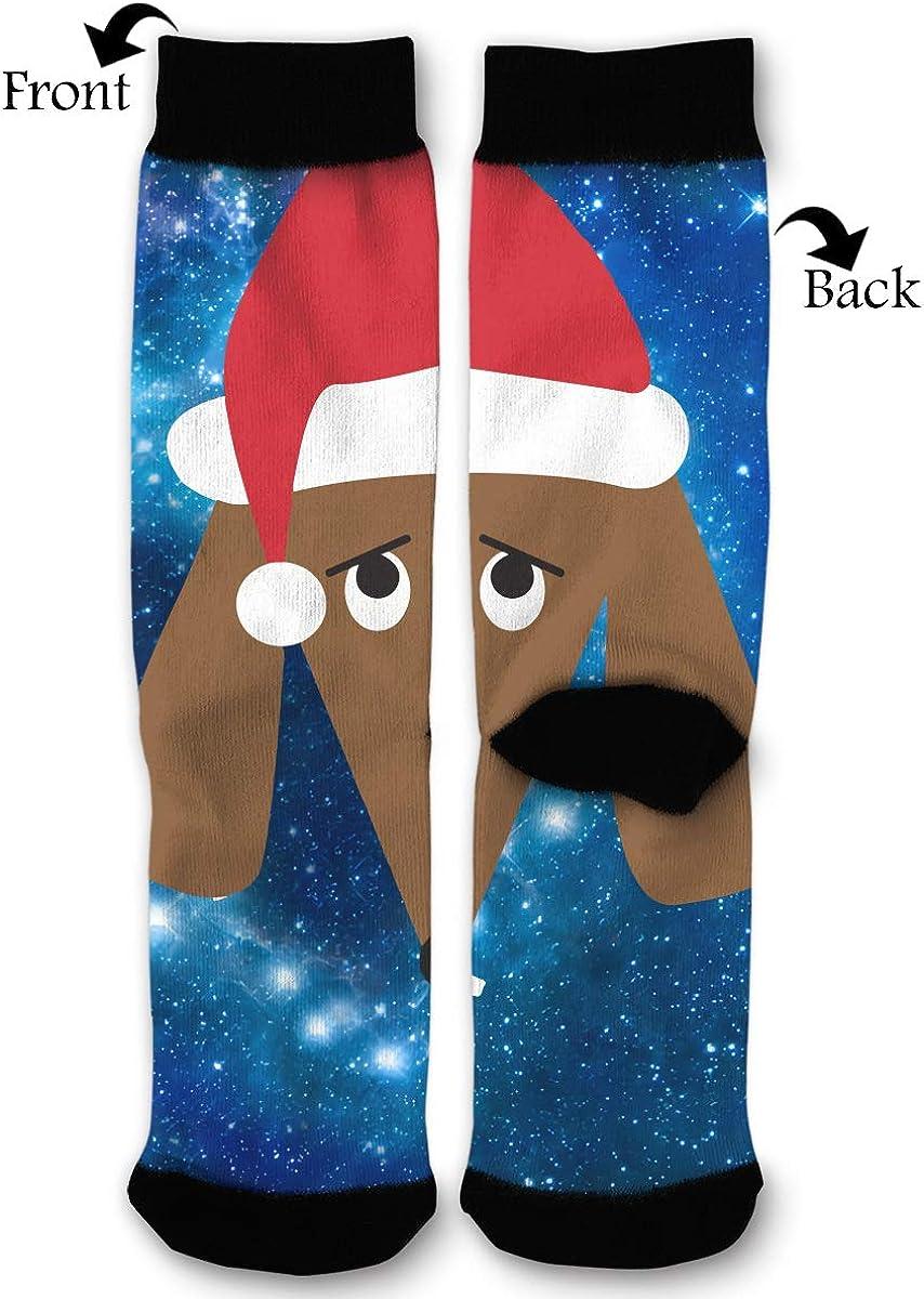 YISHOW Santa Dog Funny Crew Socks