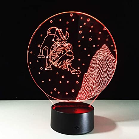 Orangeww 3D Night Light/Cute Cat/Constellation/Octopus/Skull ...