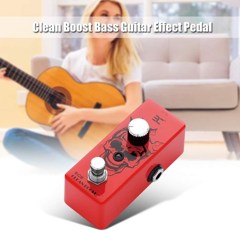 Asdomo ENO EX ECB Clean Boost Bajo Pedal de efecto de guitarra ...