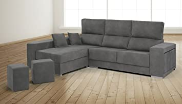 SMT - Sofa Chaise Longue Orihuela 255Ctms. Marengo, 100 X 255 X 85-175 (NO ENVIAMOS A BALEARES)