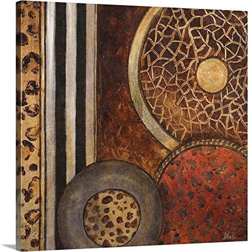 African Circles I Canvas Wall Art Print