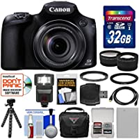 Canon PowerShot SX60 HS Wi-Fi Digital Camera with 32GB Card + Case + Flash + Battery + Tripod + Tele/Wide Lens Kit Basic Intro Review Image