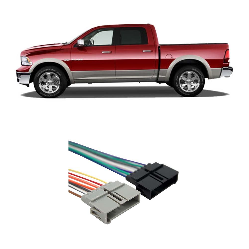 Dodge Ram Truck 1984 2002 Factory Stereo To Aftermarket Wiring Harness Amazoncom Wire Radio Install Car Electronics