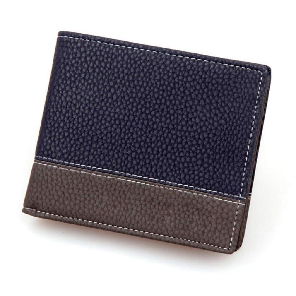 Mens Leather ID credit Card holder Clutch Bifold Coin Purse Wallet AfterSo