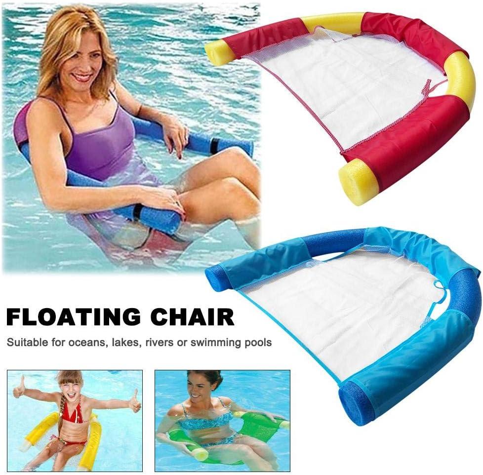 Beaviety Silla Flotante Silla portátil Flotador para la Malla de Agua U-Seat Flexible portátil Flotador de Piscina