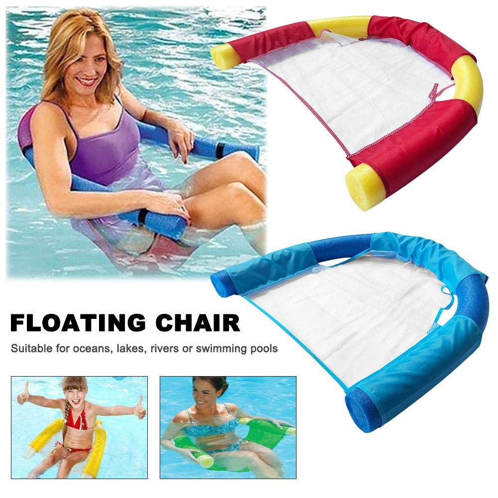 Inflatable Floating Bed Floating Lounger Chair 7.5150CM Floating Noodle Chair for Water Mesh U-Seat Flexible Portable Swimming Pool Water Hammock Swimming Pool Float