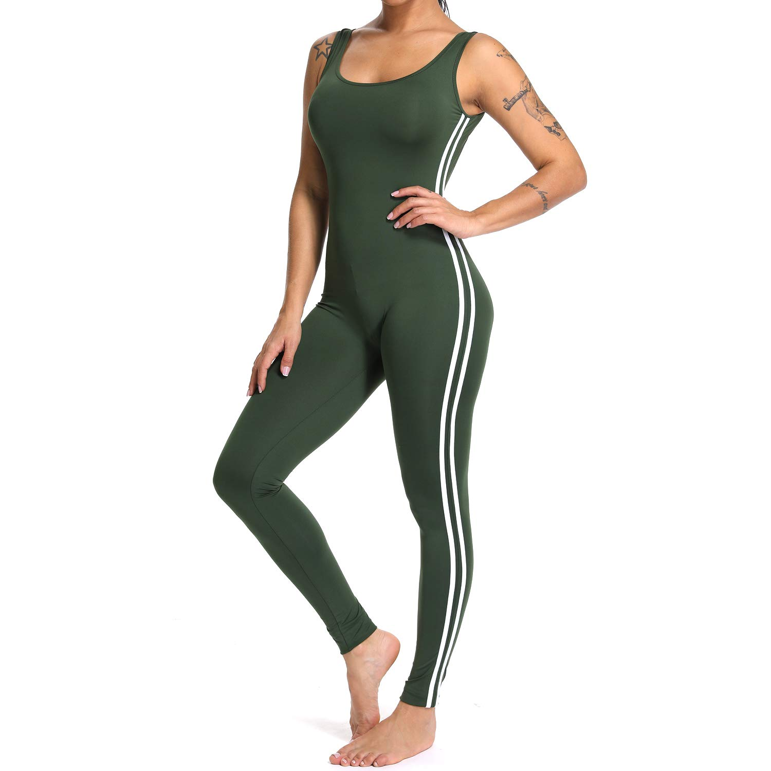 0022cff0df1e YOFIT Women Sexy Jumpsuits Athletic Clothes Low-Cut Back Yoga Rompers  Sleeveless Bodysuit  Amazon.co.uk  Clothing