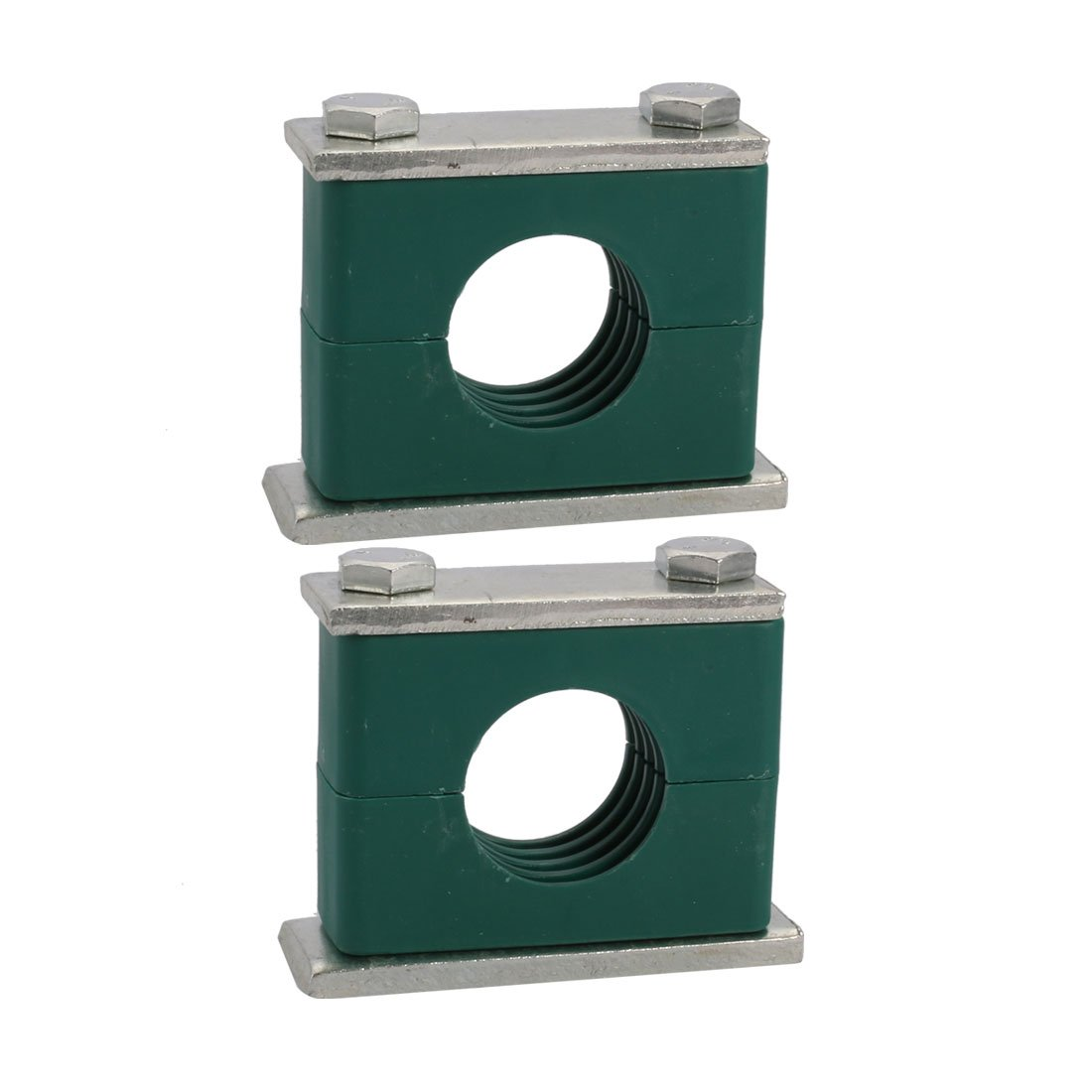 uxcell 38mm Fitting Dia Polypropylene Aluminum Heavy Series Hose Pipe Tube Clamp 2pcs