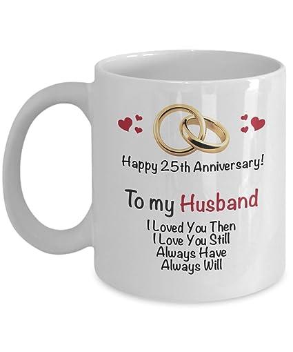 Image Unavailable  sc 1 st  Amazon.com & Amazon.com: Happy 25th Anniversary Mug - Husband 25 Year Wedding ...