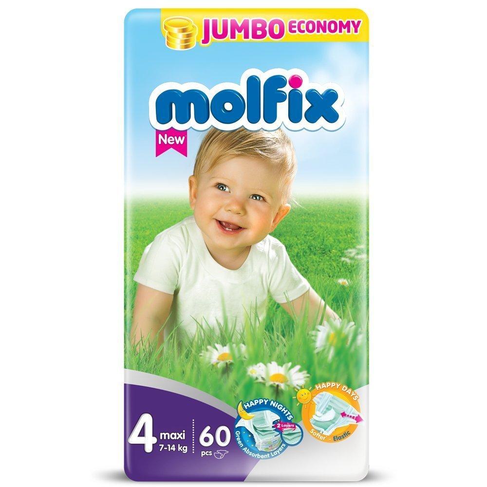 Molfix Maxi/Jumbo Economie Pack de 60 Couches 7-14 kg Taille 4 HA5043564