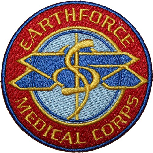 Babylon 5 Earthforce Medical Corps EMBROIDERED PATCH Badge Iron-on, Sew On 3.5""