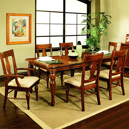 Amanda Home Dining Collection American Heritage Solid Cherry 7-Piece Dining Room Set Including Table, (4) x Side Chairs, (2) x Arm Chairs