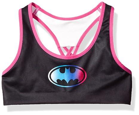 f437af79bcdfb Amazon.com  Batman Girls  Seamless Racer Bra Black  Clothing