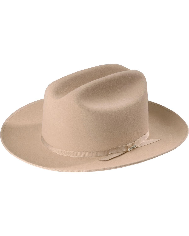 Stetson Men's 6X Open Road Fur Felt Cowboy Hat Silverbelly 7 3/8