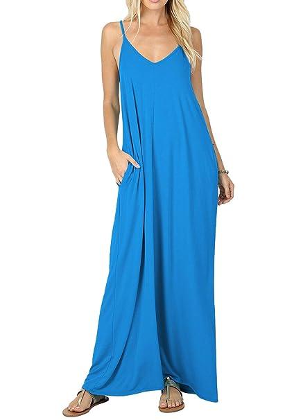 Amazon.com: Calipessa - Maxi vestido de playa suelto con ...