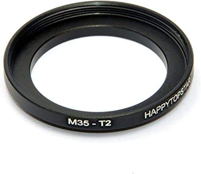 Metal M35 Male to M35-T2 mm Female 35mm 1mm Thread Pitch to T2 42mm 0.75mm Thread Pitch 35mm-42mm Step-Up Coupling Ring Adapter for Lens Filter