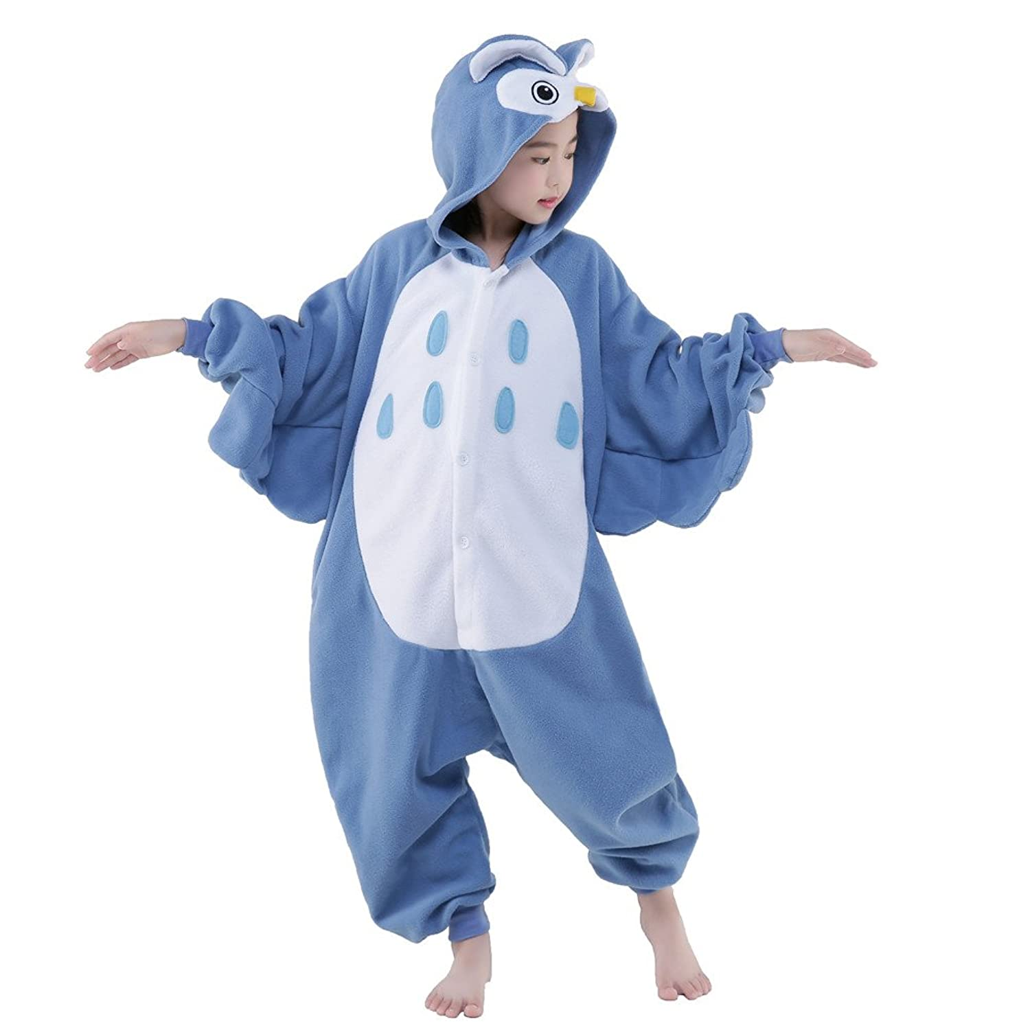 Amazon.com: Newcosplay Unisex Children Owl Pyjamas Halloween Costume: Clothing