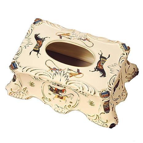 WeiLuShop Caja de pañuelos/Bandeja Caja de servilletas de casa Caja de casa de Papel