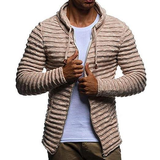 ... Absolute suéter Corto Otoño Invierno sólido de Punto a Rayas Chaqueta Chaqueta de Manga Larga Outwear Blusa: Amazon.es: Ropa y accesorios