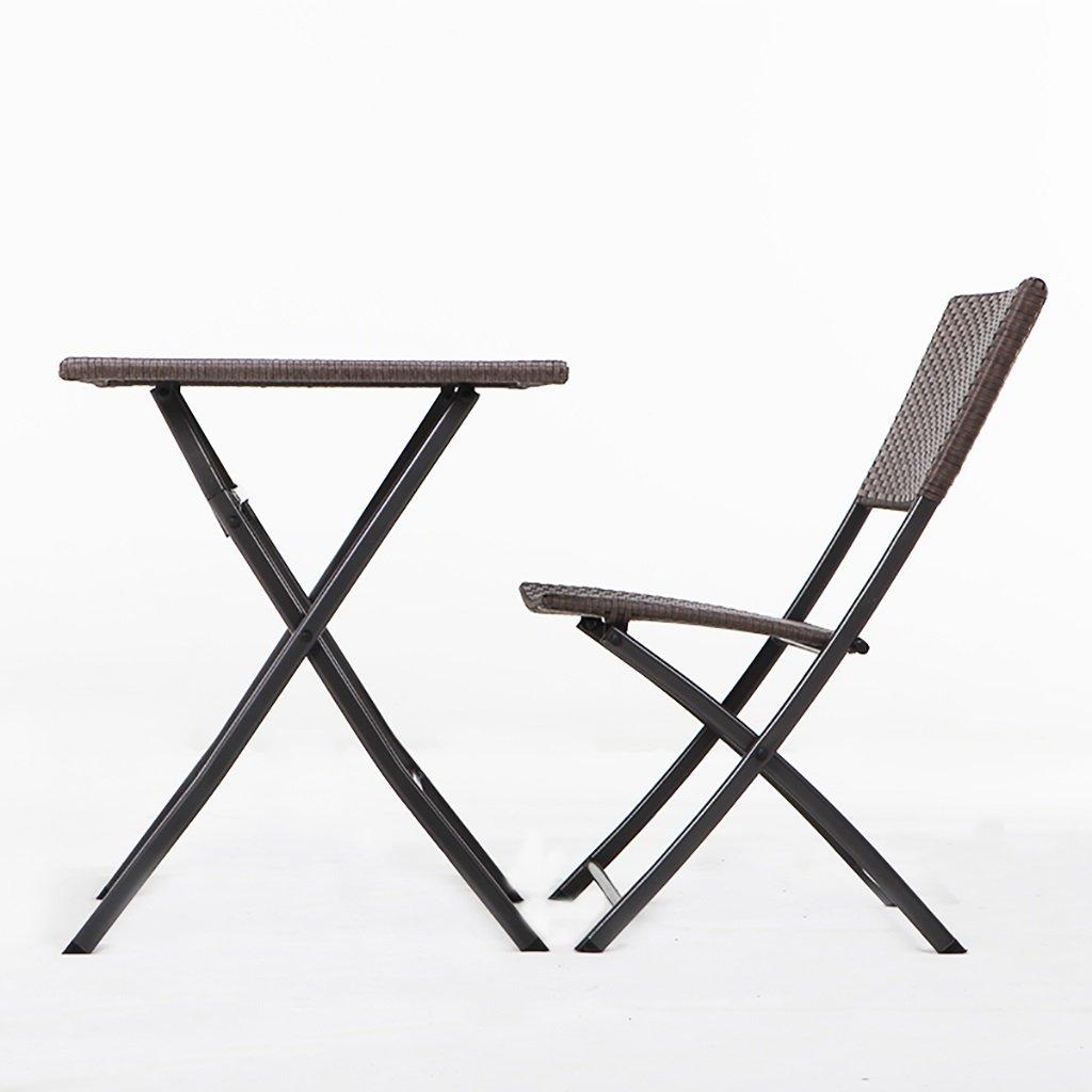 gartenm bel sets rattan falttische und st hle einfache wasserdichte m bel handgewebte. Black Bedroom Furniture Sets. Home Design Ideas