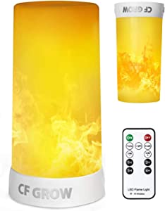 LED Flame Effect Light,USB Rechargeable Outdoor Flame Table Lamp Waterproof Dimmable 4 Modes Lantern,Flame Lamp with Gravity Sensing Effect IR Wireless Remote&Timer,for Halloween Room Party Bar Decor