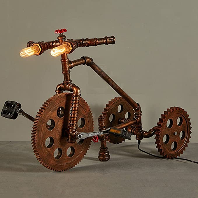 GBT Lámpara de Piso de Hierro de Bicicleta de Viento ...