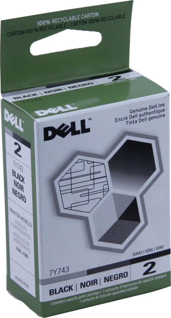 Genuine Dell 7Y743 Series 2 Black For A940 A960