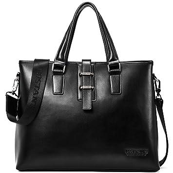5150931c1 Amazon.com | BOSTANTEN Leather Briefcase Laptop Handbag Messenger Business  Bags for Men | Briefcases