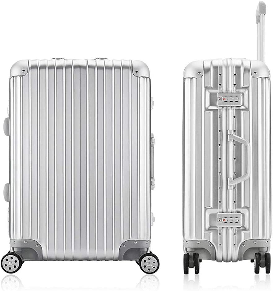 Abs+Pc Material Aluminum Alloy Trolley Suitcase Mesurn Business Suitcase Silent Wear-Resistant Universal Wheel
