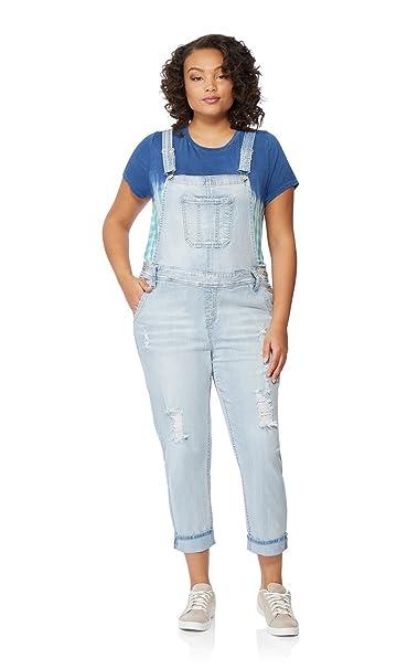 d16c84c6226 WallFlower Plus Size Denim Overalls in Samantha
