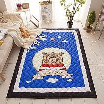Xbcc1 95 1 45 Meter Grosse Baby Kinder Baumwolle Teppich