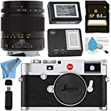 Leica M10 Digital Rangefinder Camera (Silver) 75mm f/2.5 SUMMARIT-M, Manual Focus + 64GB SDXC Card + Card Reader + Deluxe Cleaning Kit + MicroFiber Cloth Bundle