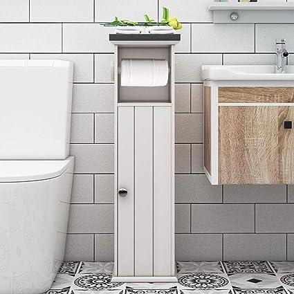 Amazon.com: soges Bathroom Floor Cabinet Narrow Organizer ...
