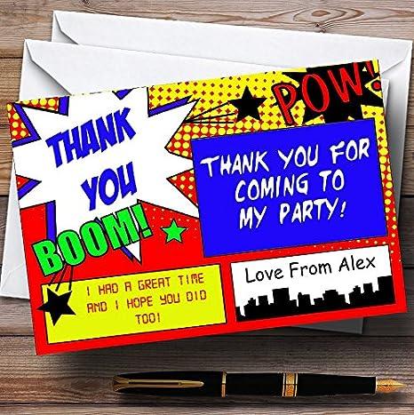 Amazon.com: clásico Comic Superhero personalizado fiesta de ...