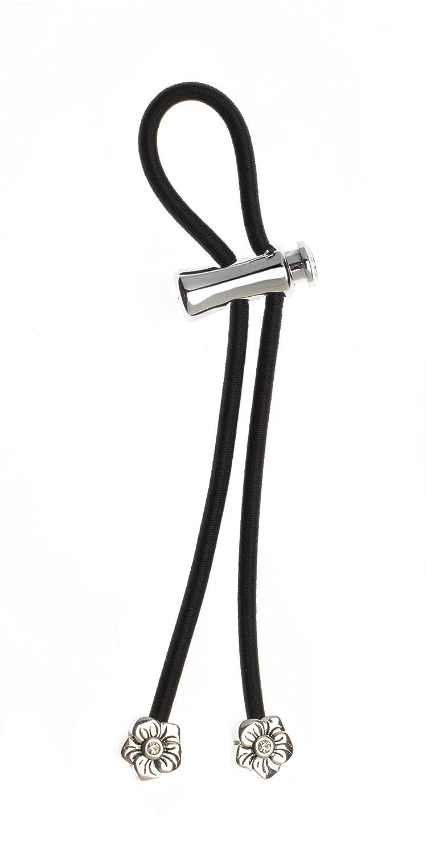 Pulleez Set of 4 Sliding Ponytail Holders Elastic Hair Tie Bracelet Brown//Black