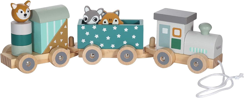 Kindsgut Tren de madera con animalitos, estrellas