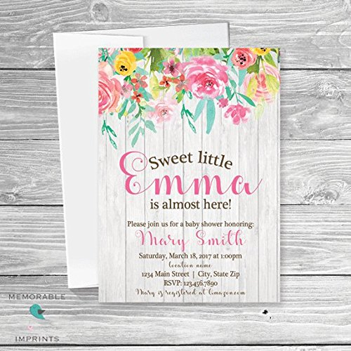 Amazon set of 10 floral baby shower invitation rustic baby set of 10 floral baby shower invitation rustic baby shower invite boho baby shower filmwisefo