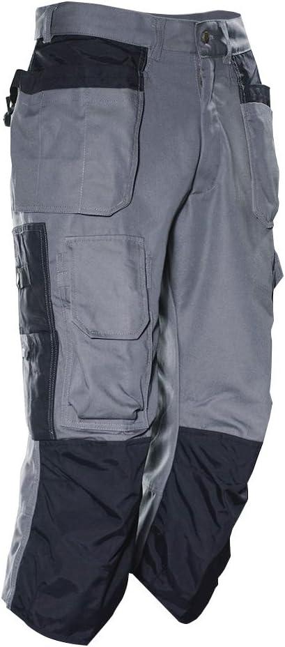 Jobman 236123-9799-C48 Pantacourt pour carreleur gris//noir Taille C48,