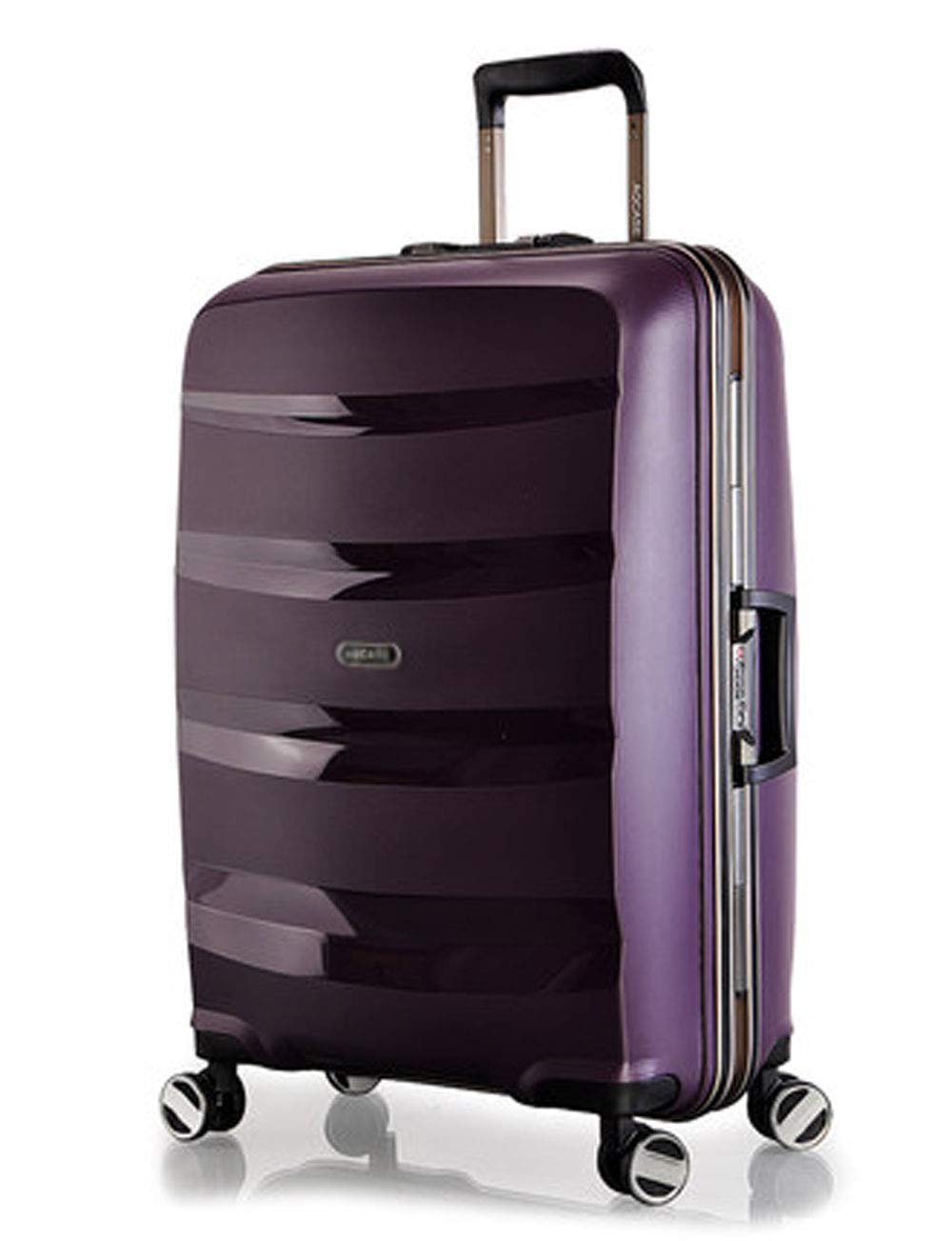 4輪の荷物、アルミ合金製のレバー、サイレントユニバーサルホイール、パスワードの搭乗でビジネスPP旅行40cm * 23cm * 55cm (色 : Purple)   B07GTXNT9V