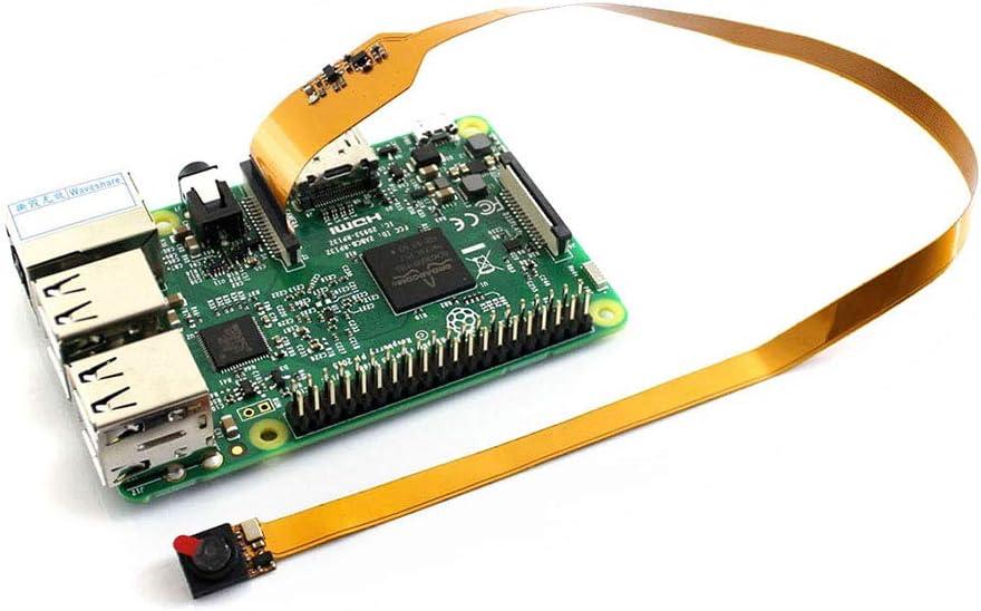 ALLPARTZ Raspberry Pi Camera Module Mini Size with Long FPC 5 Megapixel OV5647 Sensor Supports Raspberry Pi A+//B+//2B//3B//3B+//4B